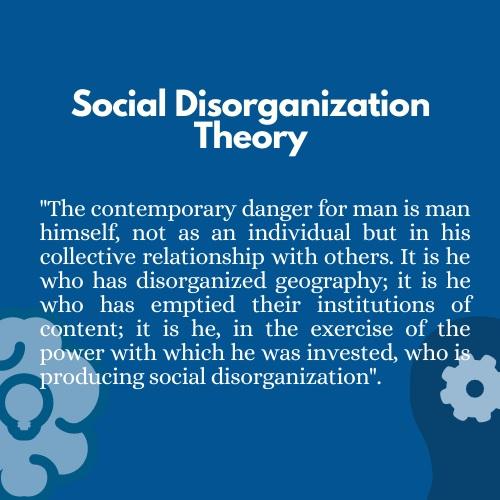 social disorganization theory homework help