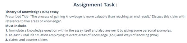 tok essay question