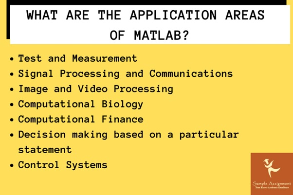 application areas of matlab