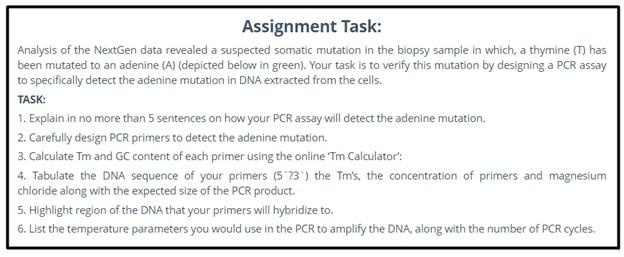 bioinformatics assignment question