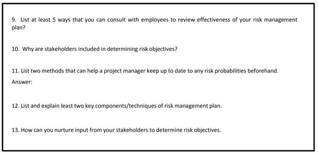 business management question