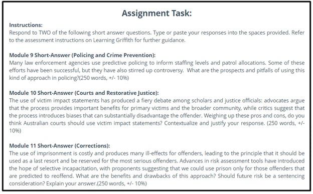 criminology dissertation question sample