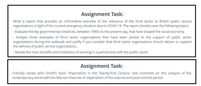 history assignment question