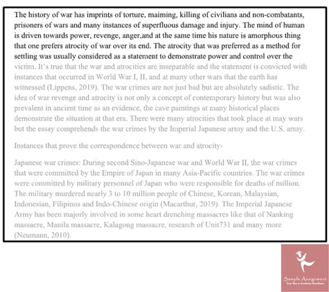 history homework sample uk