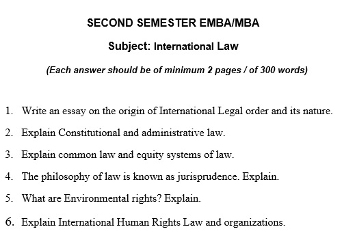 law thesis essay question sample