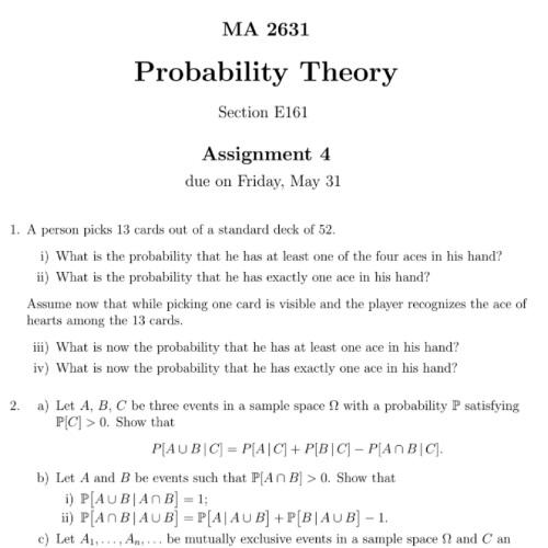 probability homework experts