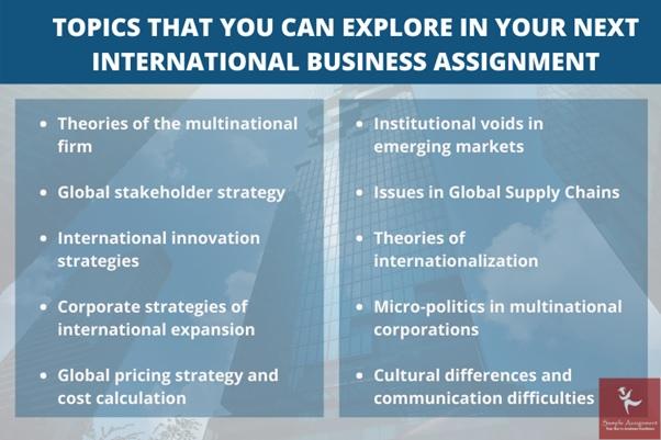 topics of international business assignment