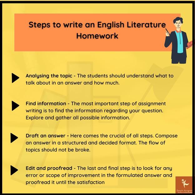 write english literature homework