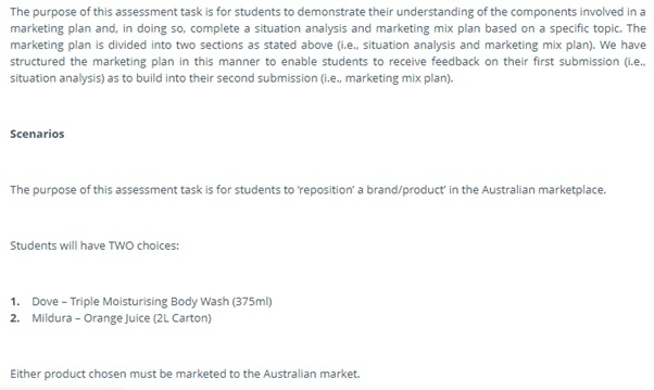1003MKT introduction to marketing assessment answers
