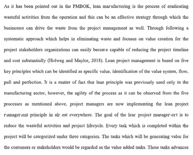 project management assignment sample