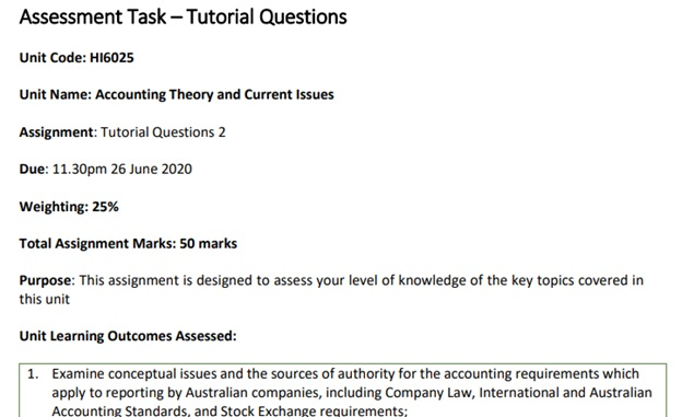 accounting theory current issues assignment experts