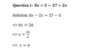 algebra task sample