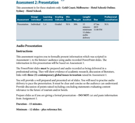 assignment overview sample