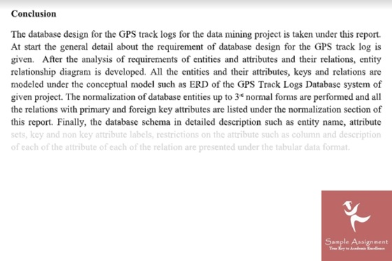 assignment on data modelling