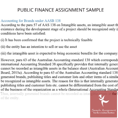 assignment on public finance