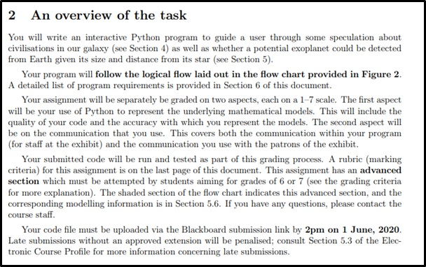 astrophysics assignment online