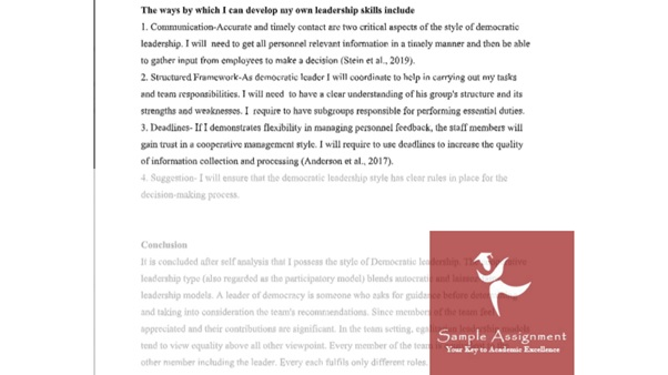 authentic leadership assignment sample online