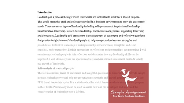 authentic leadership assignment sample