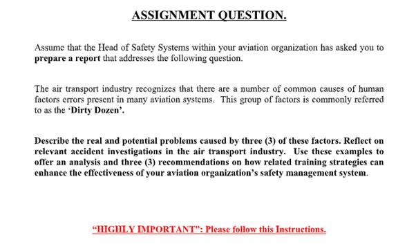 aviation assignment help