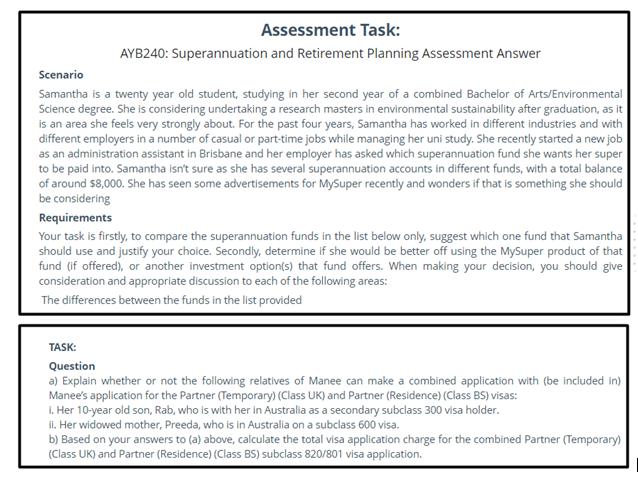 ba assignment sample
