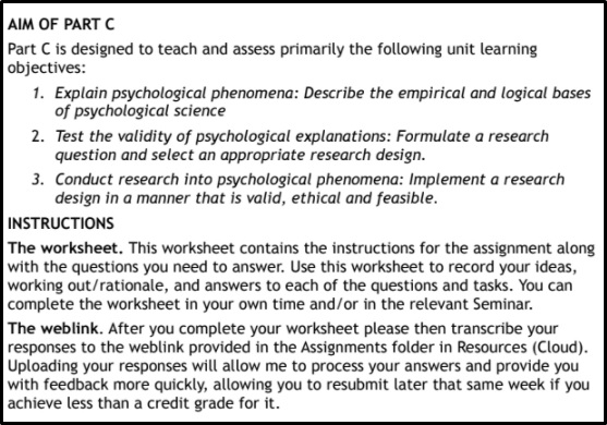 bachelor of psychological science assignment help