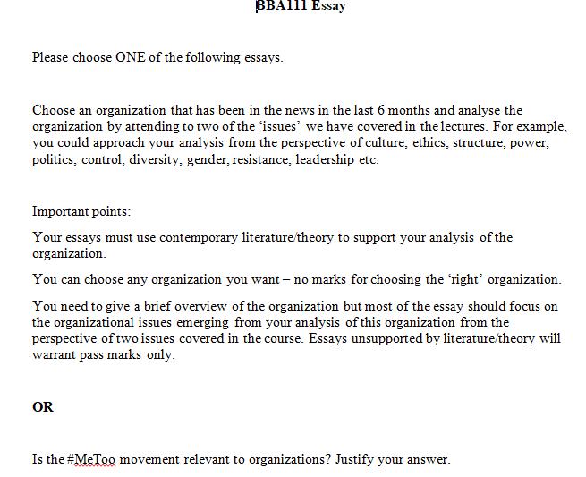 BBA111 Organisational Behaviour assignment help