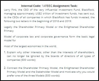 behavioural finance assignment online