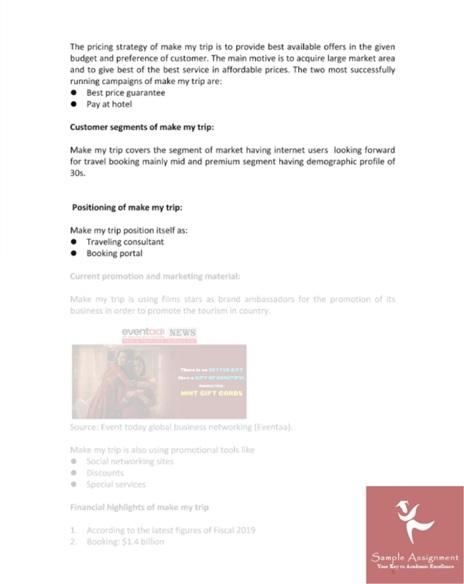 bendigo assignment sample
