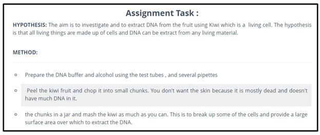 Biochemistry assignment hobart