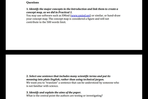 biologists assignment question