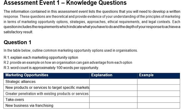 bsbmkg609 assignment question
