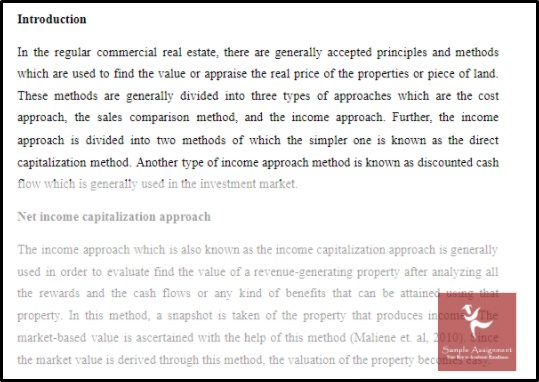 capitalisation assessment answer
