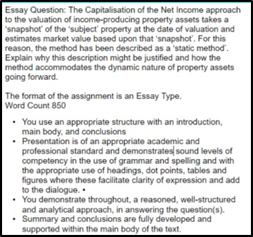 capitalisation assignment help