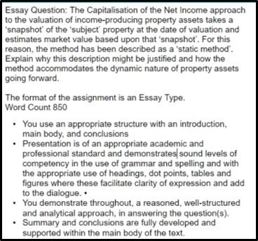 capitalisation assignment help