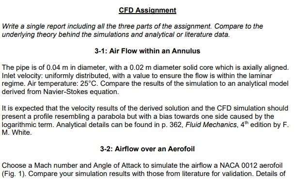 cfd assignment help