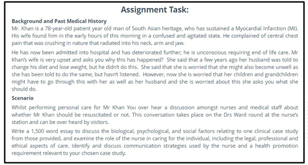 clinical supervision assignment question