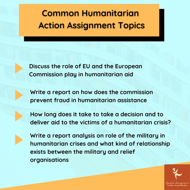 common humanitarian action topics
