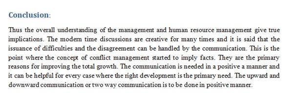 conflict management assignment experts