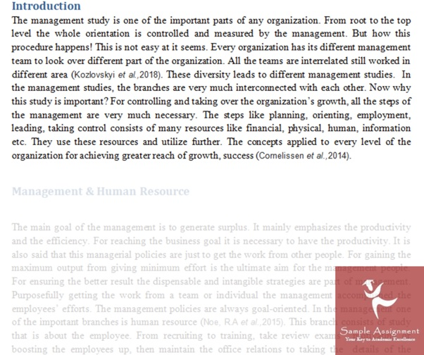 conflict management assignment