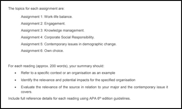 contemporary social assignment questions