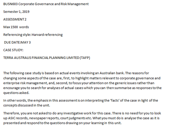corporate governance law assignment