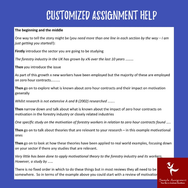 customized assignment help online