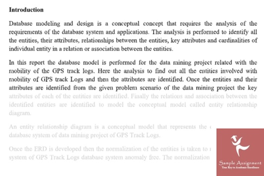 data modelling assignment