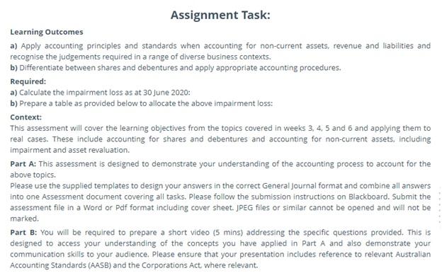 debentures assessment task