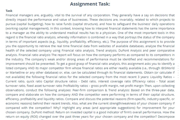 debtors turnover ratio assignment