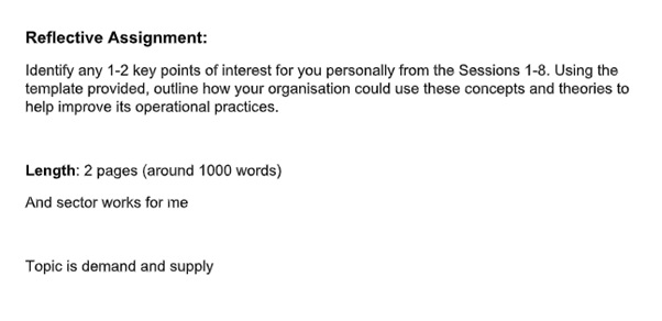demand supply assignment