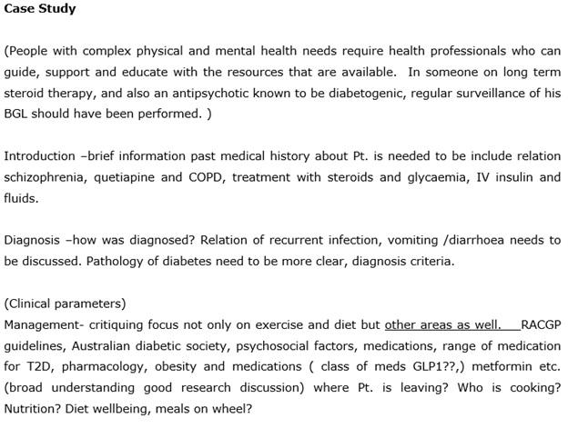 dietitians assignment sample online