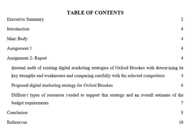digital marketing assignment sample