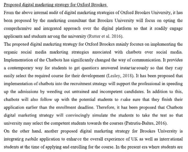 digital marketing assignment sample