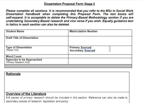 dissertation question sample